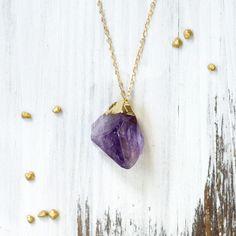 koshikira Purple Amethyst Necklace <3