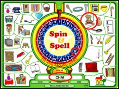 Free Spelling Game - Spin and Spell (Nouns and Verbs) Spelling Games For Kids, Spelling And Grammar, Grade Spelling, Teaching Language Arts, Classroom Language, Teaching English, Learn English, Interactive Board, Nouns And Verbs