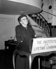 Ethel Percy Andrus (1884-1967).    In retirement in the mid-1940s, she became a champion of and advocate for the interests and needs of the elders in society after discovering a retired teacher forced by poverty to live in a chicken coop.  Galvanized to action, in 1947, at age 63, she founded NRTA (then called the National Retired Teachers Association) and in 1958, at age 73, she founded AARP.  Today, AARP is the largest nonprofit organization in the world, with 37 million members.