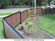 Fence Design - wood with metal framing and posts