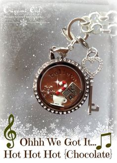 Hot, hot, hot! Hot chocolate! Polar Express Origami Owl style!