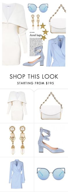 """""""pristine"""" by pensivepeacock ❤ liked on Polyvore featuring Asilio, Reed Krakoff, Oscar de la Renta, MM6 Maison Margiela and Matthew Williamson"""