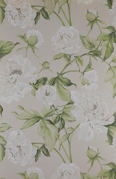 Cowtan & Tout - Manuel Canovas 'Serena wallpaper in Blanc'