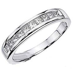 Carat (ctw) White Gold Princess White Diamond Anniversary Wedding Stackable Ring Band CT: This lovely piece of jewelry is a wardrobe must have. All diamonds are sparkling and natural. All our products with FREE gift box and Satisfaction guarantee. Wedding Anniversary Rings, Diamond Anniversary Rings, Diamond Wedding Rings, Diamond Bands, Diamond Cuts, Gold Wedding, Wedding Jewelry, Platinum Wedding, Emerald Diamond