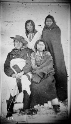 SHOSHONE MEN , 1869