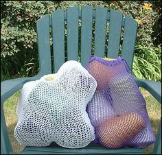 meshbag free pattern for machine knitting