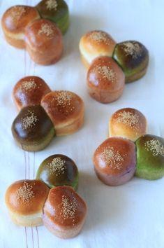 「三色あんぱん」kaiko | お菓子・パンのレシピや作り方【corecle*コレクル】