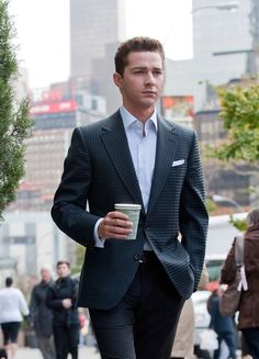 """Shia LaBeouf A busy day on the set of """"Wall Street 2: Money Never Sleeps"""" in the Upper West Side."""