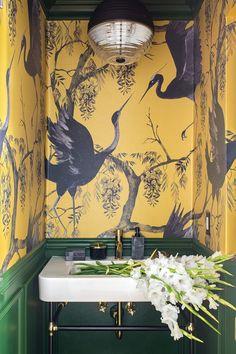 Powder Room Design, Design Room, Interior Design, Small Toilet, Moldings And Trim, Beautiful Bathrooms, White Bathrooms, Luxury Bathrooms, Master Bathrooms