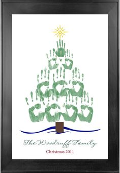 Holiday Handprint Tree. Fun for the family!