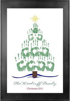 Holiday Handprint Tree. Fun for the family!
