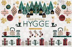 It's increasingly easy to notice Hygge in graphic design these days. Hygge graphic design is based on the Scandinavian philosophy of Pencil Illustration, Watercolor Illustration, Watercolor And Ink, Graphic Illustration, Design Illustrations, Hygge Christmas, Christmas Art, Christmas Sewing, Christmas Christmas