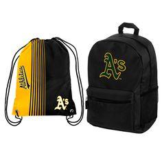 Oakland Athletics Backpack   Drawstring Bag Combo Pack ae3e9ea34870e