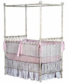 Available in gloss white $1400 Sparkling Stars Iron Canopy Crib