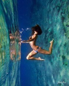 Yoga pose ocean