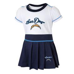 Toddler Girls San Diego Chargers Navy Blue 2-Piece Cheerleader Set