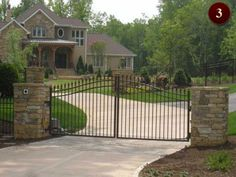 Residential Gates Raleigh | Custom Wrought Iron Gates | Driveway & Walkway Aluminum Gates