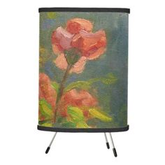 #flower - #Pink Roses at Sunset Tripod Lamp