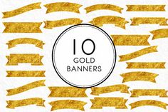 Gold Banners by Kaazuclip on Creative Market