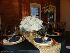 RSVP: The RiverRoom Blog: December 2013 Rachel & Robert black, white, and gold 50's glam wedding cake.