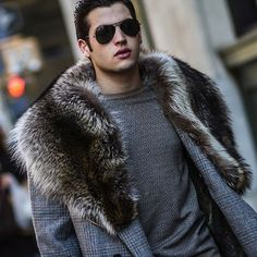 Fur Coats For Men Men's coat trends @Alexander Nepein furfashion