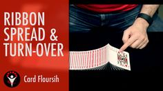 Tutorial about how to do a ribbon spread with turn-over and a giant ribbon spread Learn Magic Tricks, Playing Cards, Ribbon, Entertaining, Teaching, Books, Life, Studying, Tape