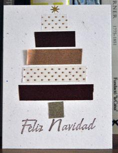 tarjeta navidad arbol washi tape