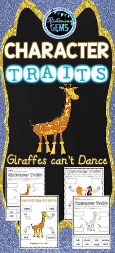 Giraffes Can't Dance Character Trait Activities Pack: Is perfect to use when undertaking units on character traits, narratives or descriptive writing. Gerald The Giraffe, Character Traits Activities, Giraffes Cant Dance, Teacher Resources, Esl Resources, Classroom Resources, Teaching Ideas, First Day Of School Activities, 3rd Grade Classroom