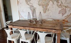 Awesome dining room & neat centerpieces