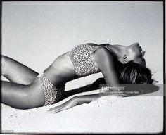 News Photo : Model, Paulina Porizkova, wearing a two-piece...