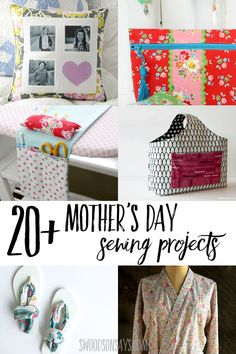 The best gifts to sew for Mother's Day - a curated list of Mother's Day sewing projects that anyone can make and give. DIY gifts for crafty moms, for moms to wear, and accessories for mom included. #sewing