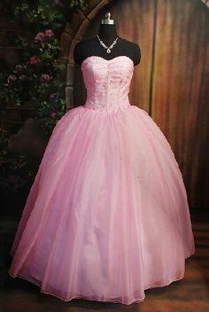 pink fluffy prom dresses