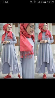 Hijab Dress, Hijab Outfit, Hijab Fashion, Women's Fashion, Blouse And Skirt, Mode Hijab, Abayas, Hijabs, Awesome