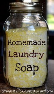 Embracing Life's Journey: 30 Minute Homemade Laundry Soap