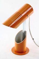 Rare Années '70 Lampe orange de table Espace âge Panton ère Culte Design