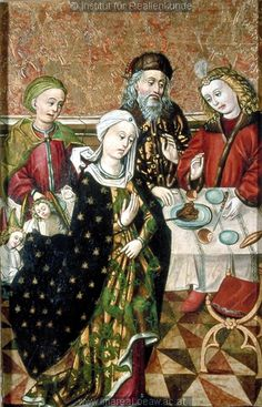 Banquet of St. Elizabeth of Wartburg, c. 1480-1500, from the Church of St. Aegidius in Bardejov, Slovakia.