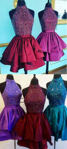 Short Prom Dresses, Burgundy Prom Dresses, Prom Dresses Short, Prom Dresses On Sale, Prom Short Dresses, Prom dresses Sale, Homecoming Dresses Short, Short Homecoming Dresses, Burgundy Homecoming Dresses, Dresses On Sale, Sleeveless Prom Dresses, Layered Homecoming Dresses