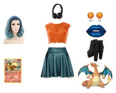 """Charizard"" by kimberly-pera ❤ liked on Polyvore featuring Lime Crime, Jeffrey Campbell and Jemma Wynne"
