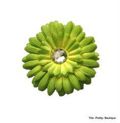 Hair Flowers Adult/Children Light Green £2 #hairaccessories #flower #adult #children #lightgreen #green #fashion #accessories