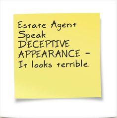 Estate Agent Speak - just for fun.