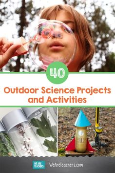 40 Wet and Wild Outdoor Science Projects and Activities. There are so many fun hands-on outdoor science activities to try! Blow the best bubbles, build a water wheel or wind turbine, make a dirt battery, and more. Science Lessons, Teaching Science, Science Projects, Science Experiments, Teaching Ideas, Outdoor Learning, Kids Learning, Investigatory Project, Elephant Toothpaste