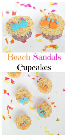 Beach Cupcakes! #cupcakes #summercupcakes #summerdesserts #summerparty #beachparty