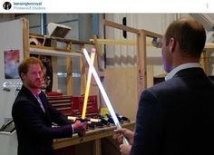 Princes William and Harry took a tour of the Star Wars set at Pinewood studios, meeting stars John Boyega, Daisy Ridley, Mark Hamill – and Chewbacca Prince Harry Of Wales, Prince William And Harry, Prince Henry, Duke William, Star Wars Set, Star Wars Film, Mark Hamill, Daisy Ridley, Chewbacca