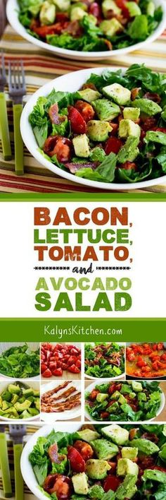 This Bacon, Lettuce, Tomato, and Avocado Salad features a great trick for adding more flavor to early-season tomaotes, and we swooned over this salad that's low-carb, gluten-free, South Beach Friendly, and even Paleo or Whole 30 (with approved bacon). [found on KalynsKitchen.com]