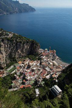 View of Atrani from the Belvedere above the Torre dello Zirro - Amalfi Coast, Italy