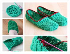 How to crochet simple slippers