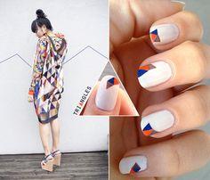 Triangles manicure