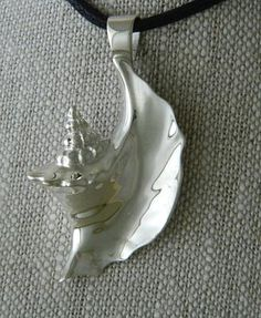 "Conch Shell Pendant | Sterling Silver pin 1 3/4"" long x 1"" wide $100"