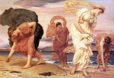 Frederick Leighton, Greek Girls Picking up Pebbles by the Sea, 1871