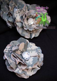 ACU Army digital camo flower hair clip in by LittleShopOfLostArts, $7.00